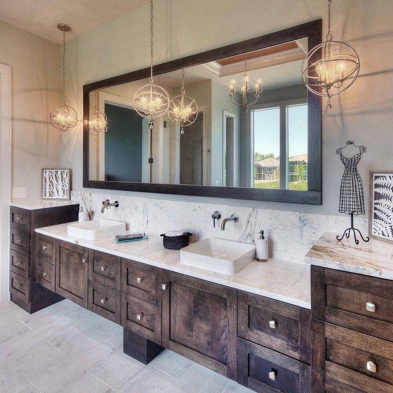 15+ Simple Glam Master Bathroom Ideas   Rustic master ...