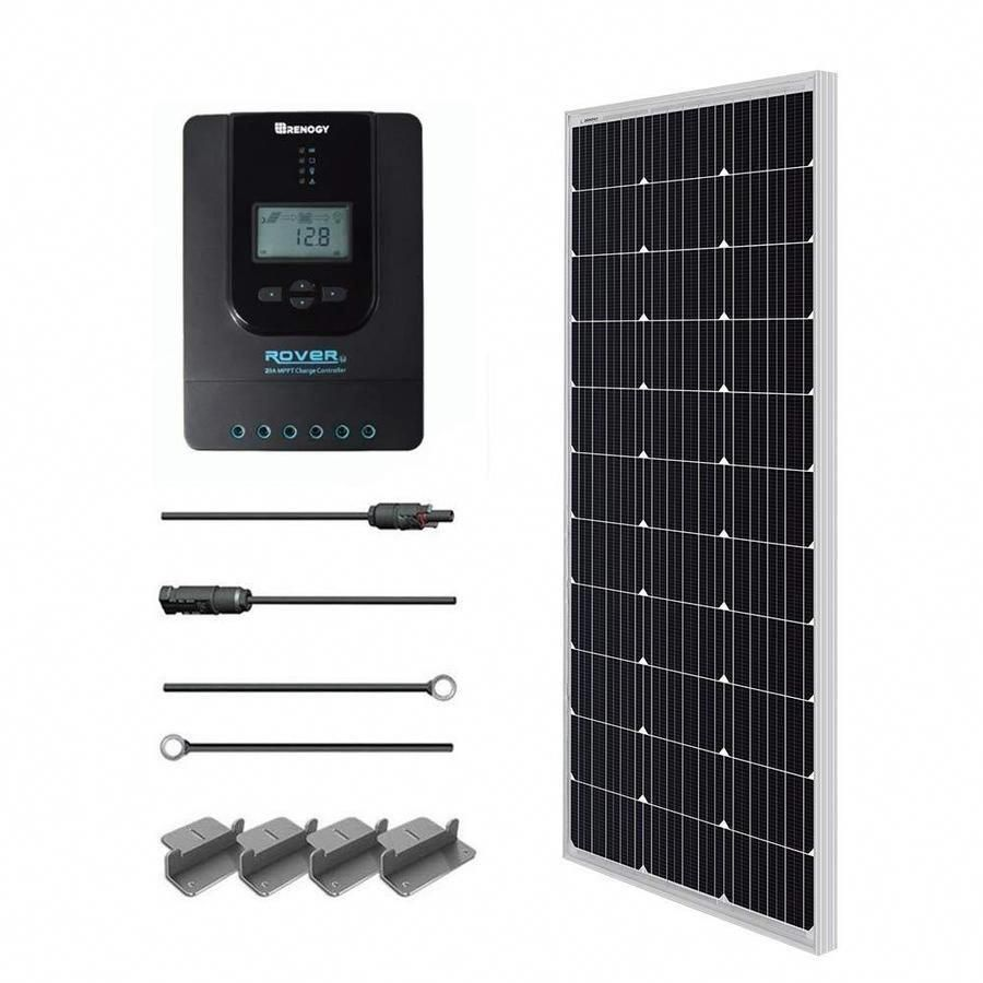 Renogy 1 Module 44 In X 22 In 100 Watt Solar Panel R Starter100d Rvr20 Solarpanels Solarenergy Solarpower Sol In 2020 12v Solar Panel Solar Energy Panels Solar Panels