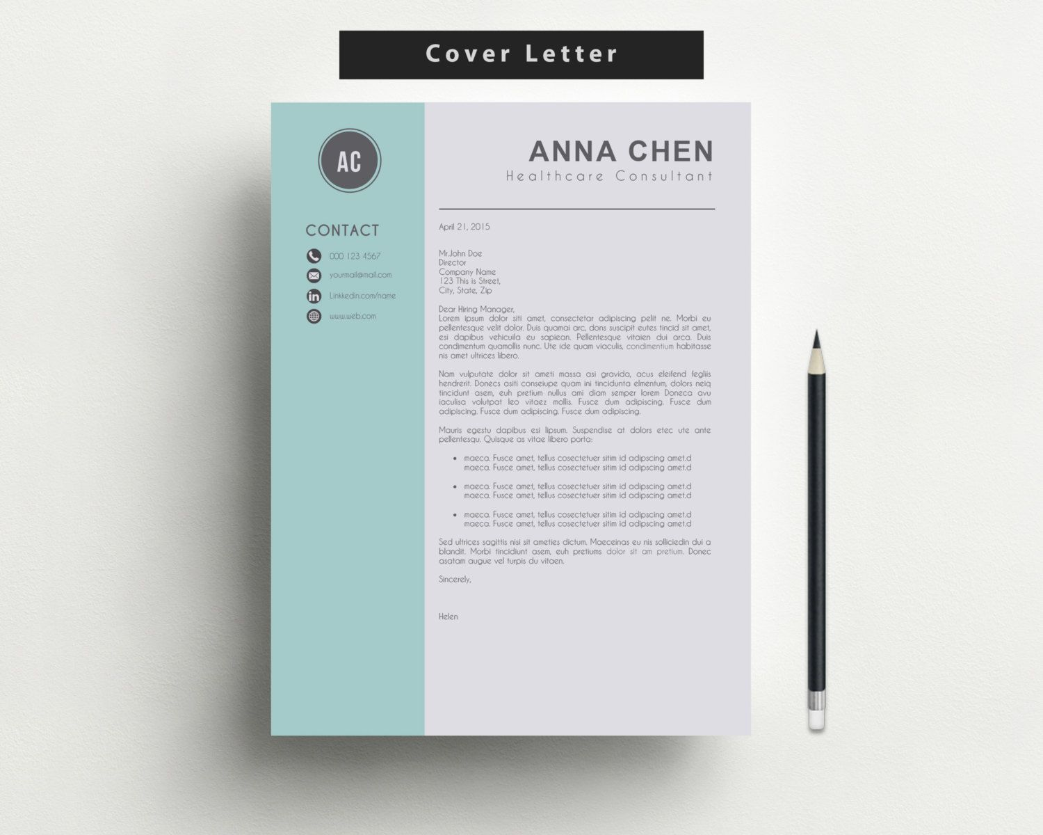 Free Letter Of Reference Template Resume Template And Cover Letter Template For Word Diy Printable 3 .