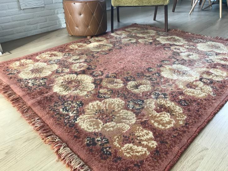 Tapijt Oud Roze : Marktplaats oudroze roze tapijt met okergeel geel