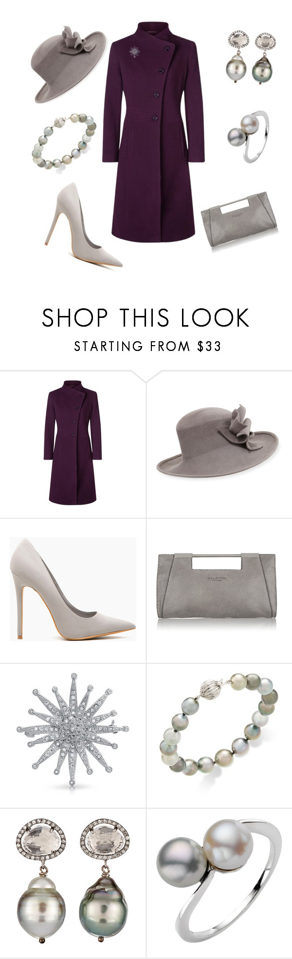 """""""Statement Coat"""" by nmccullough ❤ liked on Polyvore featuring Kaliko, Philip Treacy, Halston Heritage, Bling Jewelry, Samira 13 and A B Davis"""
