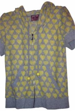 773f9020d7 Juicy Heart Short Sleeve J Zipper Hoody 10 M Medium Sweatshirt ...