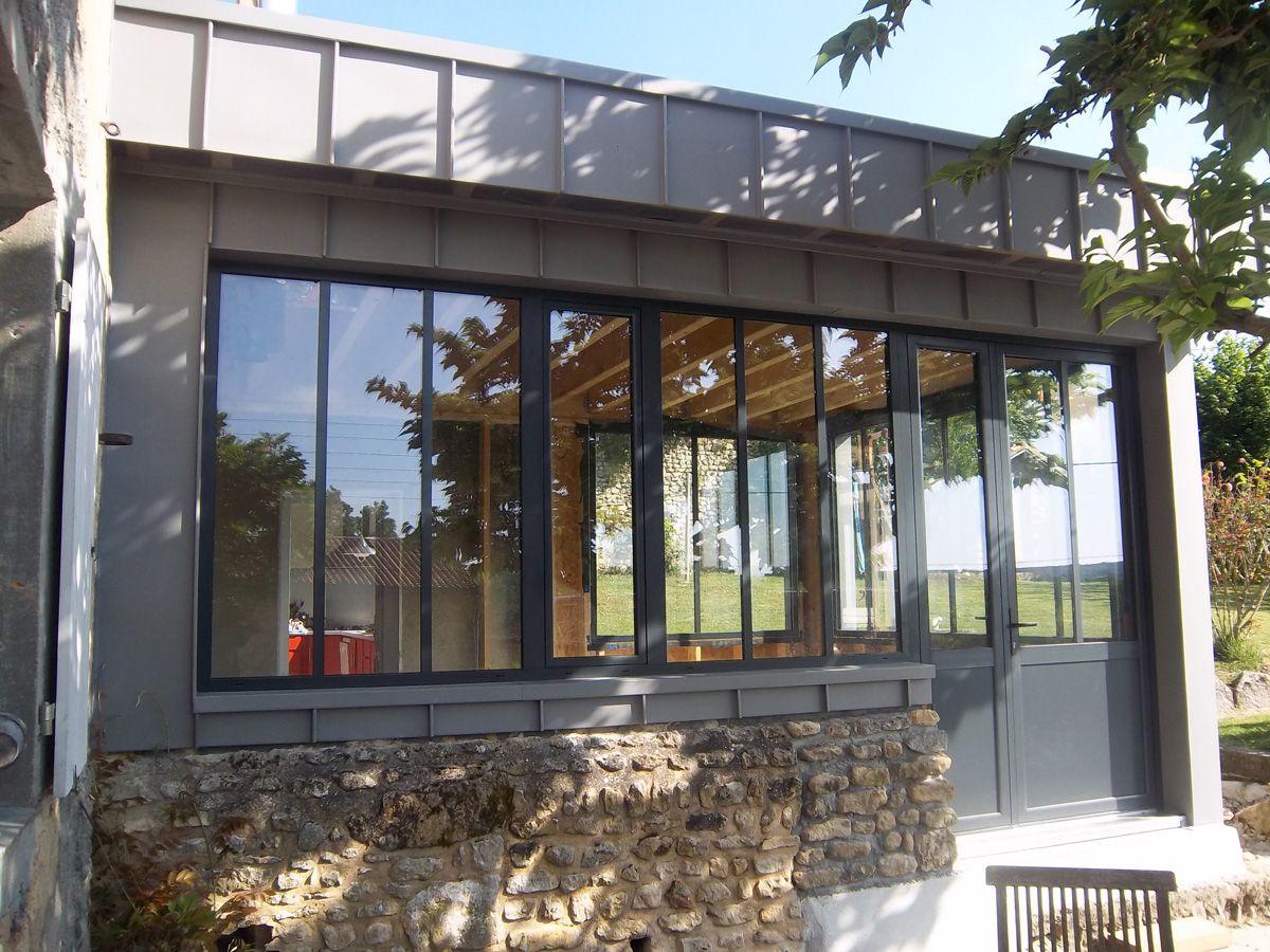Extension bois zinc deco pinterest extensions for Extension bois veranda