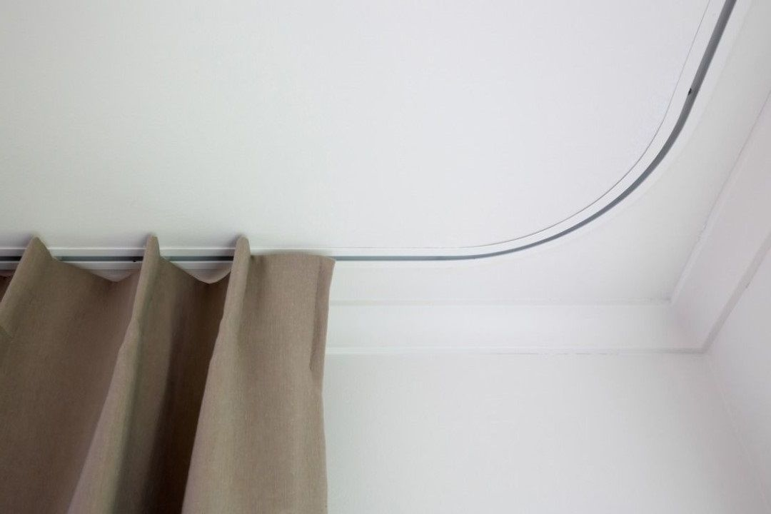 Recessed Curtain Track In 2020 Shower Curtain Track Curtains