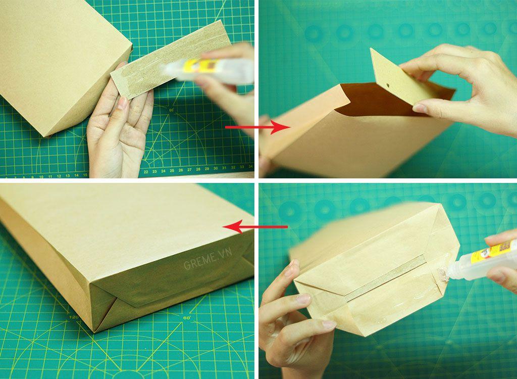 gấp túi giấy handmade