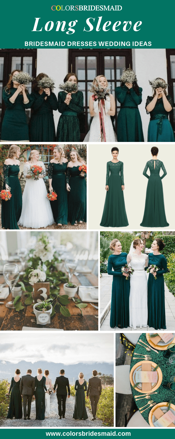 All 30 Winter Wedding Color Palettes Green Bridesmaid Dresses Winter Bridesmaid Dresses Long Green Bridesmaid Dresses