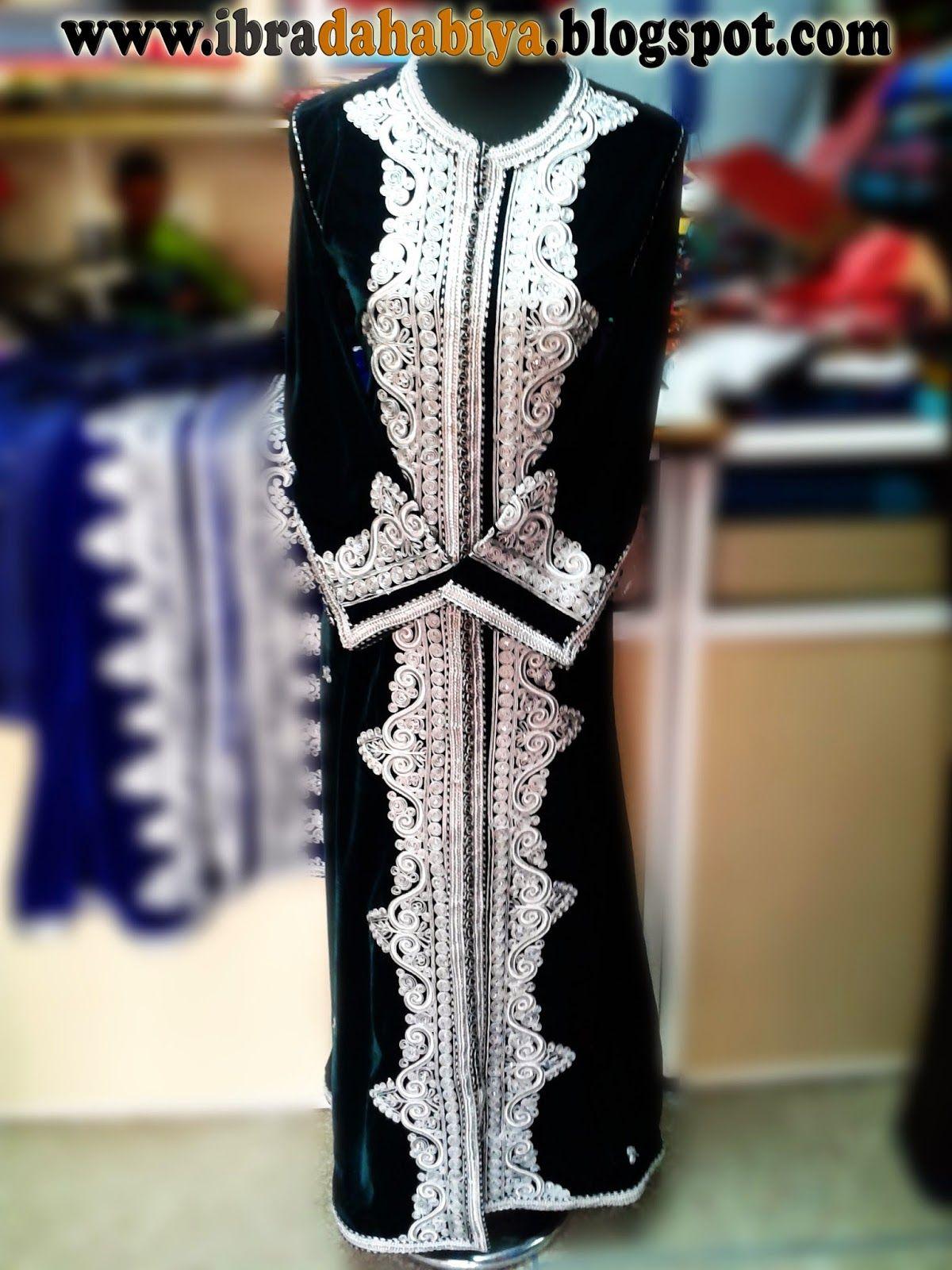 32 قفطان مغربي بثوب المبرة المطرز بالفضي اللامع Moroccan Caftan Flapper Dress Fashion