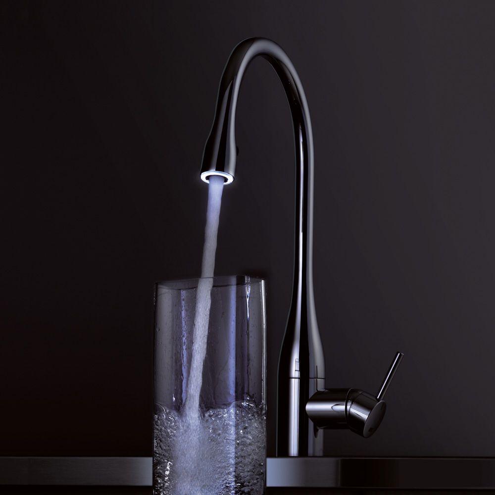 ברז נשלף למטבח איב עם תאורה KWC EVE | kitchen faucet ideas - ברזי ...
