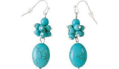 Cabela's Natural Expressions Turquoise Oval Dangle Earrings at Cabela's
