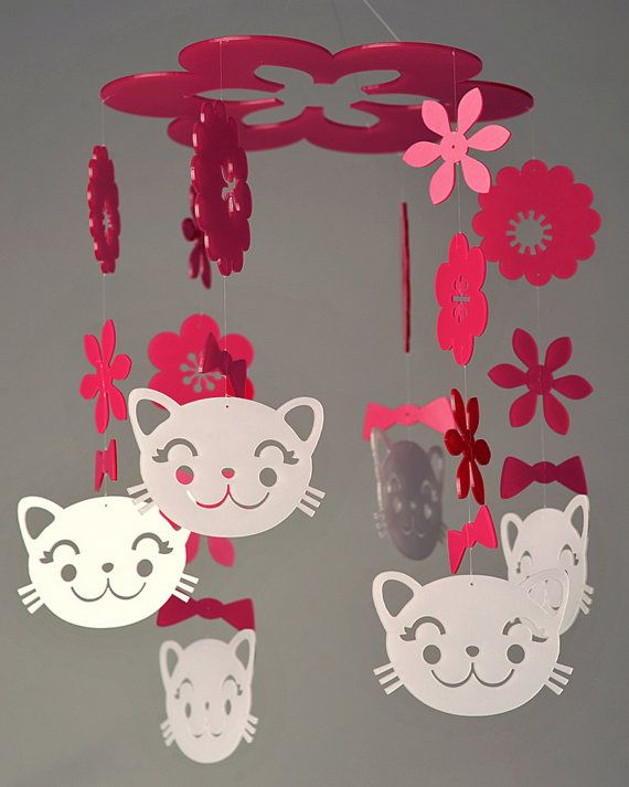 Spring kitty mobile from Diana jess! The martha stewart blog!!!!!!