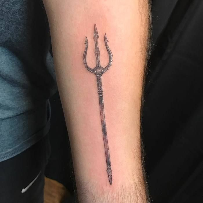 20 Mighty Trident Tattoo Designs And Meanings Trident
