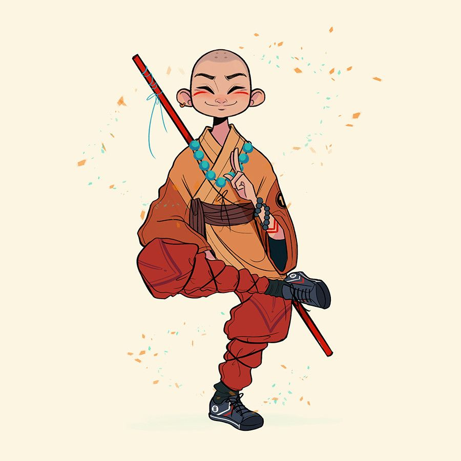 Character Design And Concept Art : Shaolin monk chabe escalante on artstation at https
