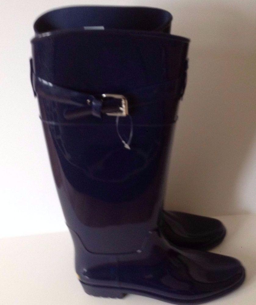9cae34ddb9a LAUREN Ralph Lauren Rosalyn II Rubber Rain Boots Dark Blue Sz 10 ...