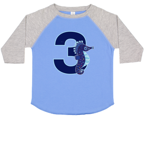 Happy 3rd Birthday Toddler T Shirt With Little Seahorse For Boys Turning 3 Years Old 2599 3rdBirthday 3yearold 3rdbirthdayparty