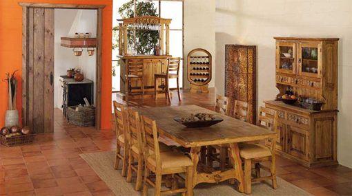 Comedor de estilo rústico de la colección mexicano rústico de la ...