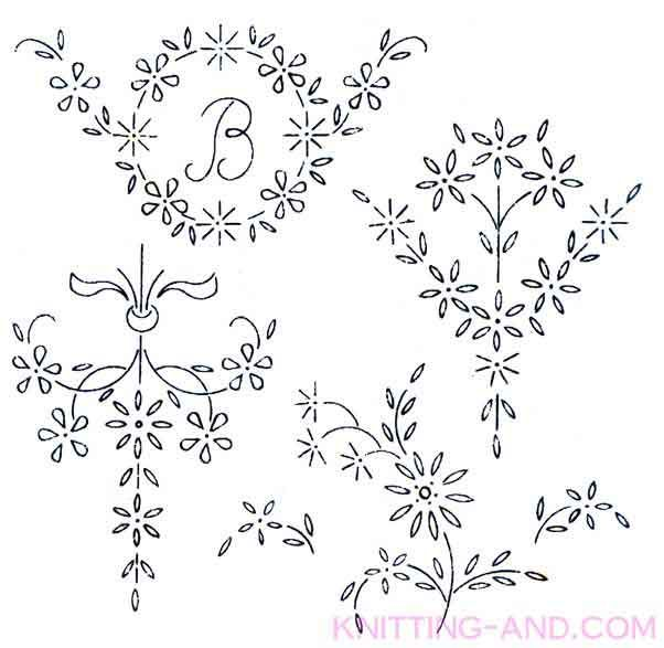 Large floral spray embroidery designs. Free embroidery