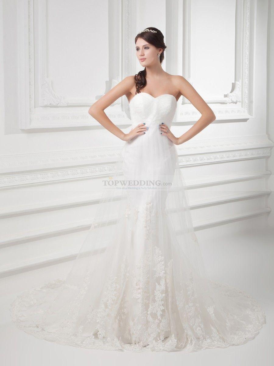 Sweetheart Mermaid Wedding Dress With Lace Overlay And Surplice Bodice Sweetheart Wedding Dress Online Wedding Dress Wedding Dresses Mermaid Sweetheart [ 1200 x 900 Pixel ]