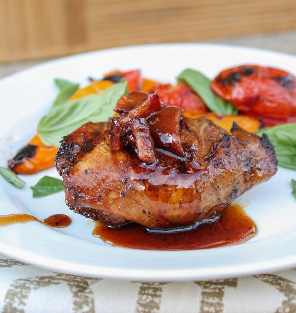Balsamic Grilled Chicken with Spicy Honey Bacon Glaze - Best Recipes Blog