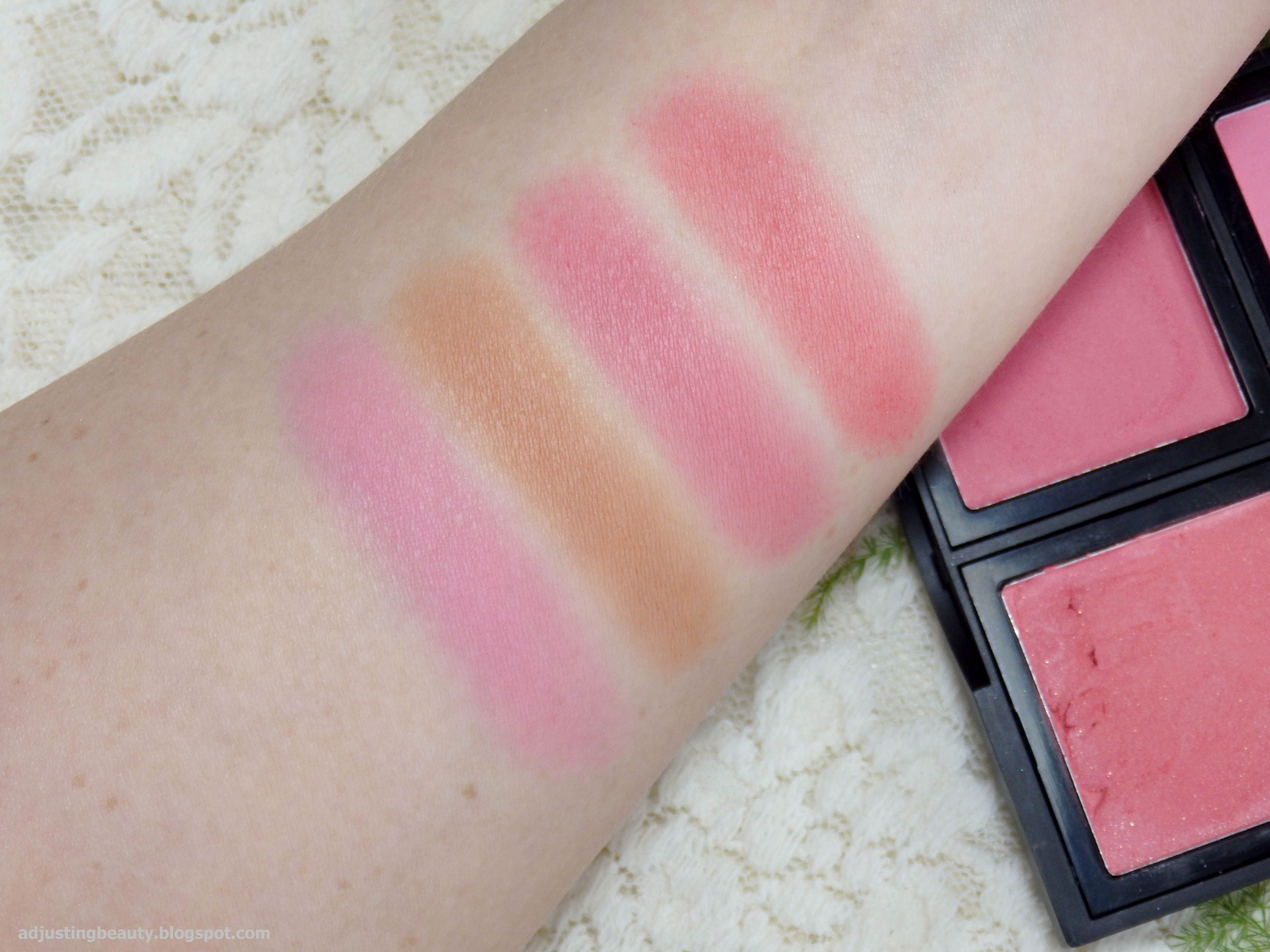 Review Of Elf Blush Palette In Light Pink Orange Peach Makeup