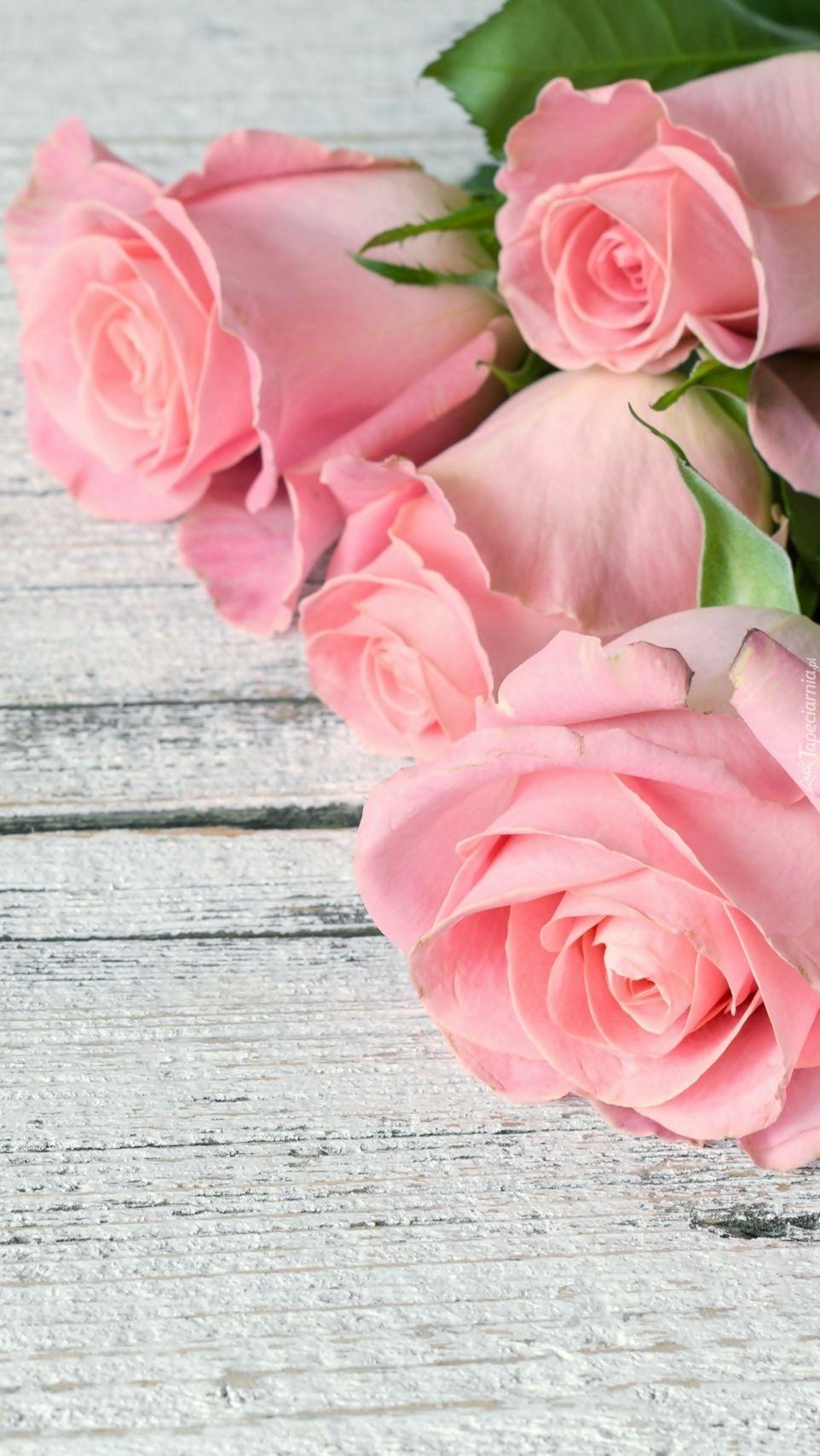 Rozowe Roze Na Deskach Tapeta Na Telefon Flower Iphone Wallpaper Beautiful Flowers Wallpapers Pink Flowers Wallpaper