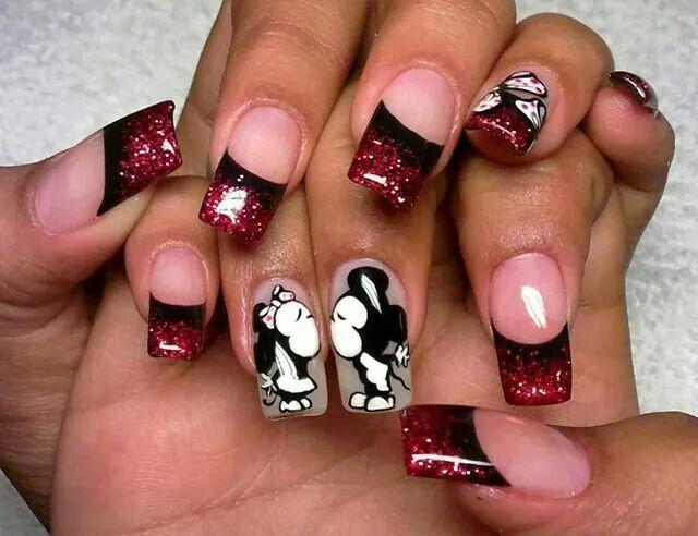 Uñas decoradas | Nails Micky And Mini | Pinterest | Uña decoradas