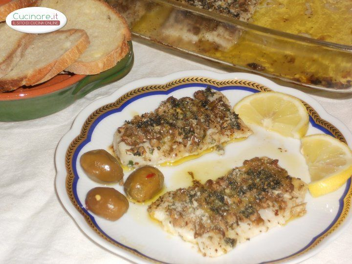 Filetti di Pesce Spatola al gratin