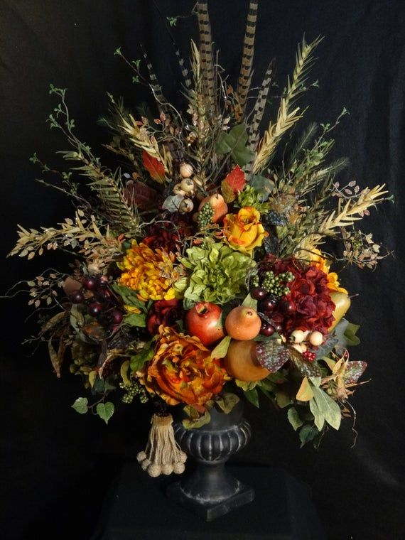 SE vende gran arreglo floral toscano, pieza central de la mesa de la Toscana, arreglo de la fruta sintética de lujo, arreglo de flores rústicas