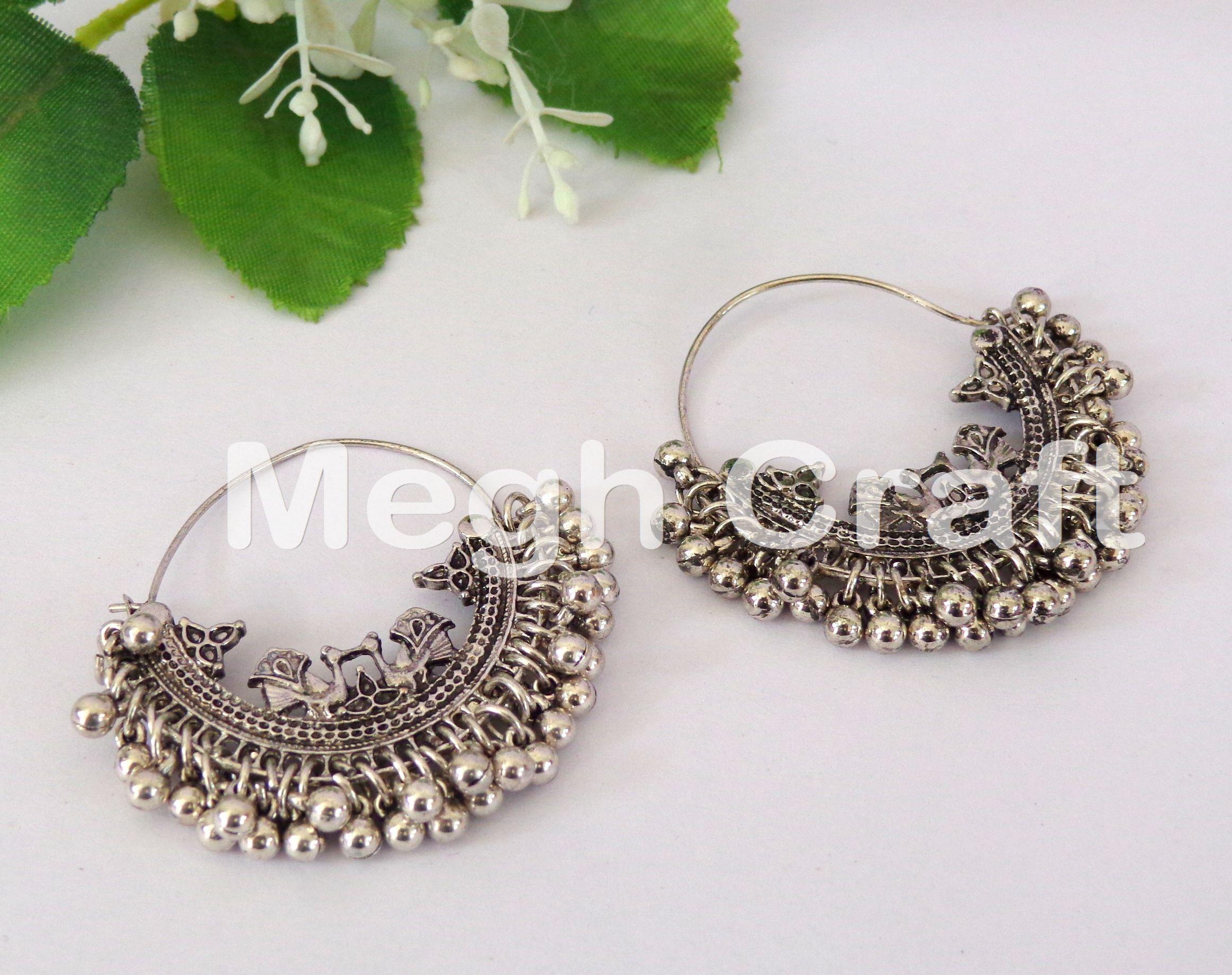 Design Jhumki//jhumkas Oxidiert Ohrringe für Jewels Ohrringe versilbert