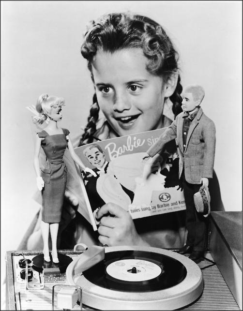 Barbie Record ( barbie / Mattel / vintage toy / retro toy / ken / photograph / advertisement / photo )
