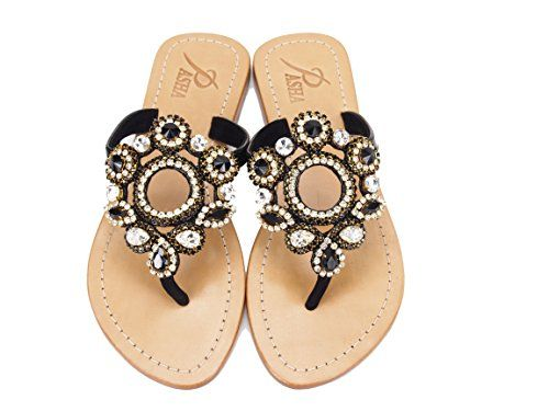 7c83d3539 Genuine Leather Jeweled Shoes Pasha SULAWESI 5 -- Be sure to check out this  awesome product. (This is an affiliate link)  WomensFlatsSandals