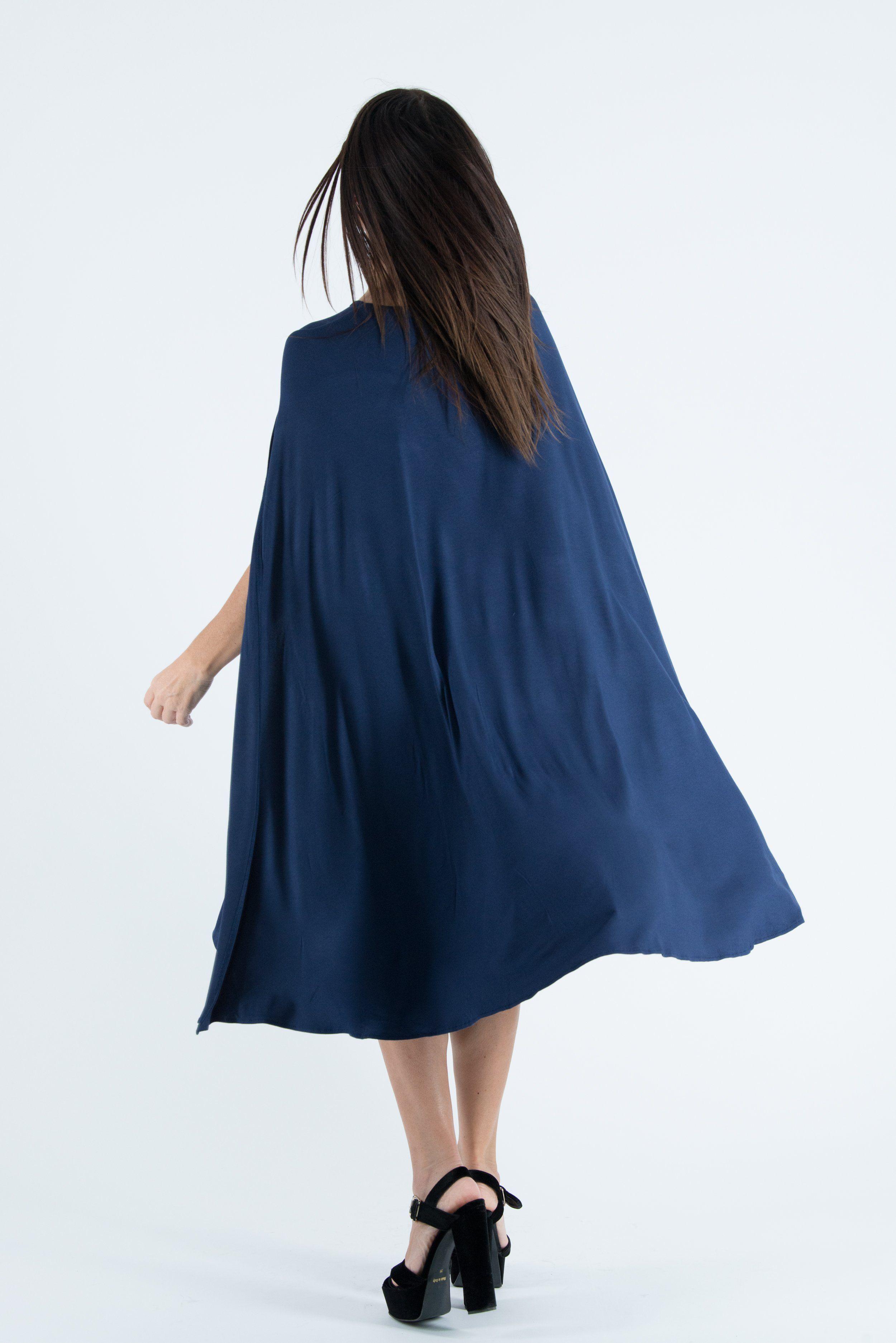 Navy Blue Summer Short Dress