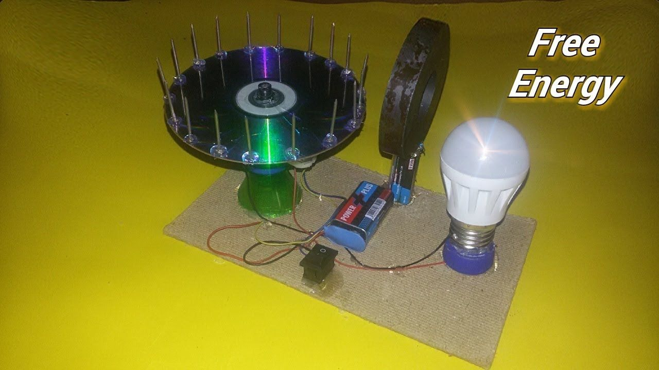 5b18399b7d7 Free Energy light blub device with magnet 100% self running Dc motor at .