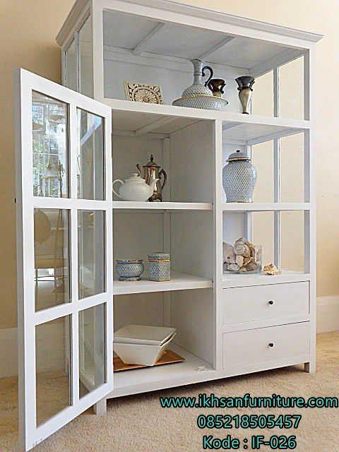 Jual Lemari Hias Kaca Minimalis Murah Terbaru Merupakan Desain By Ikhsan Furniture Yang Rjakan Oleh Pengrajin