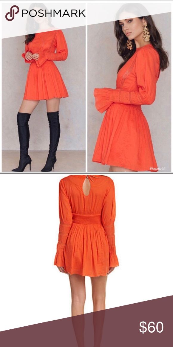 5802dfb969fb3 Free People Victorian Waisted Mini Dress NWT Free People Victorian Waisted  Mini Dress Size 6 Clementine NWT 128 Across the bust 16.5