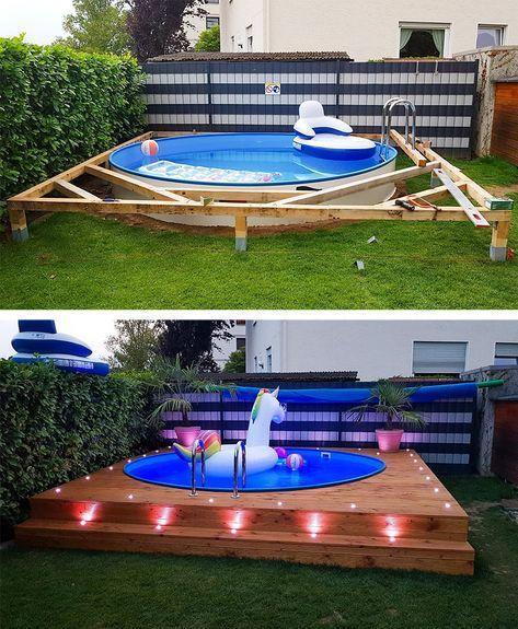 Mit diesen Spots setzen Sie Ihren Swimmingpool richtig in Szene und können die entspannten Sommerabende noch besser genießen. #pool #schwimmbecken #summer #garten #gartenpool #gartengestaltung #gartendesign #gartenideen #diyoutdoorprojects