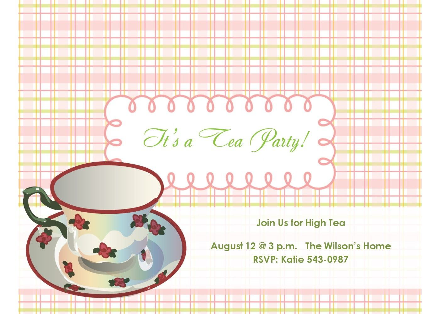 Invitations free tea party invitations free template invitations free tea party invitations free template monicamarmolfo Image collections