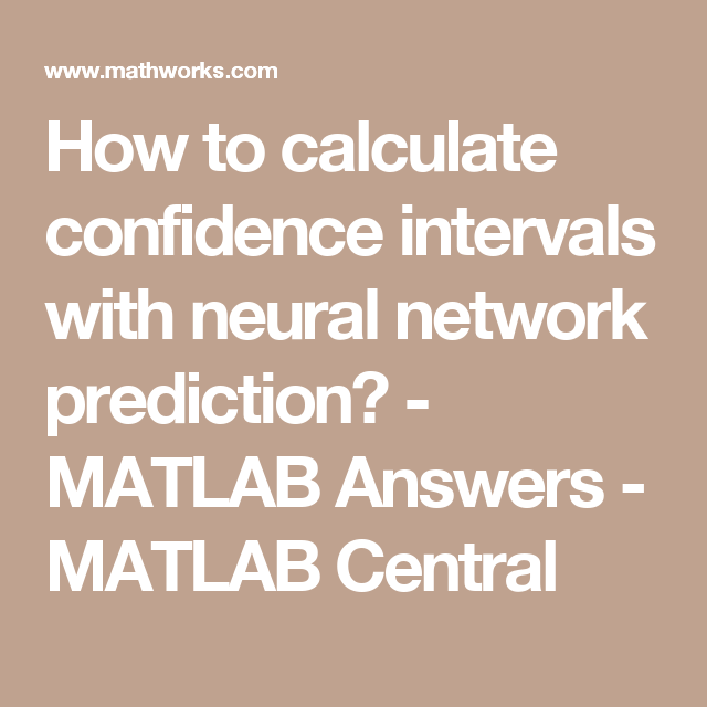 How to calculate confidence intervals with neural network prediction