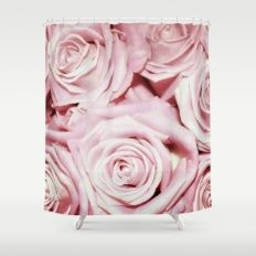 Beautiful bed of pink roses- Floral elegant and luxury backround Shower Curtain