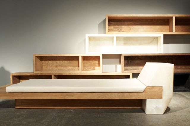 minimalist wood furniture. image of rick owens urban minimalist furniture showing at salon94 wood