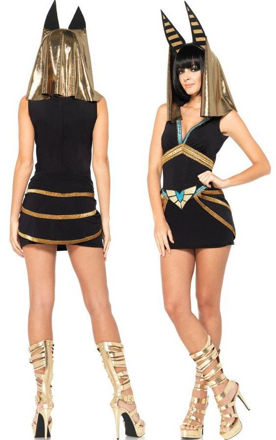 5dea915d448 Egyptian Anubis Women s Costume. Halloween and the Secret of the Mummy s  Tomb Party.