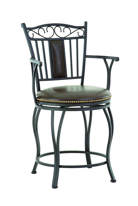 Steve Silver Company Barbara Jumbo Swivel Counter Chair