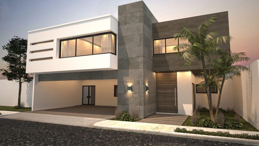 Fotos de casas de estilo moderno  fachada principal   sur Diseños