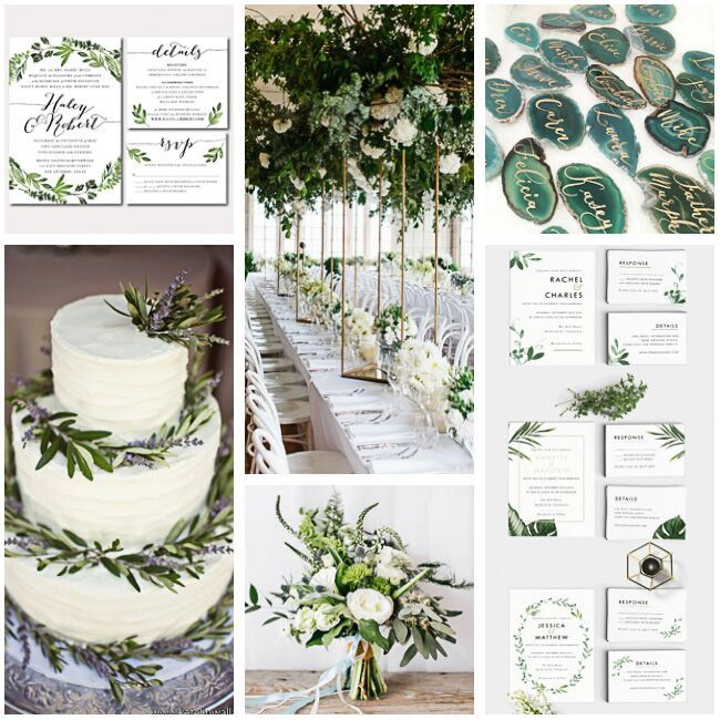 Botanical wedding inspiration + moodboard
