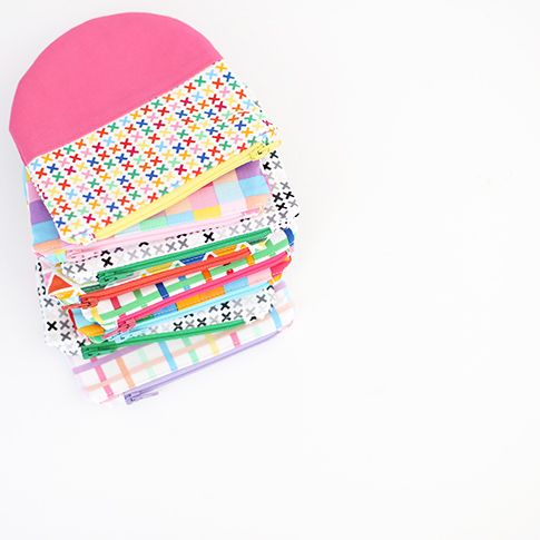 Color block round bottom pouch tutorial