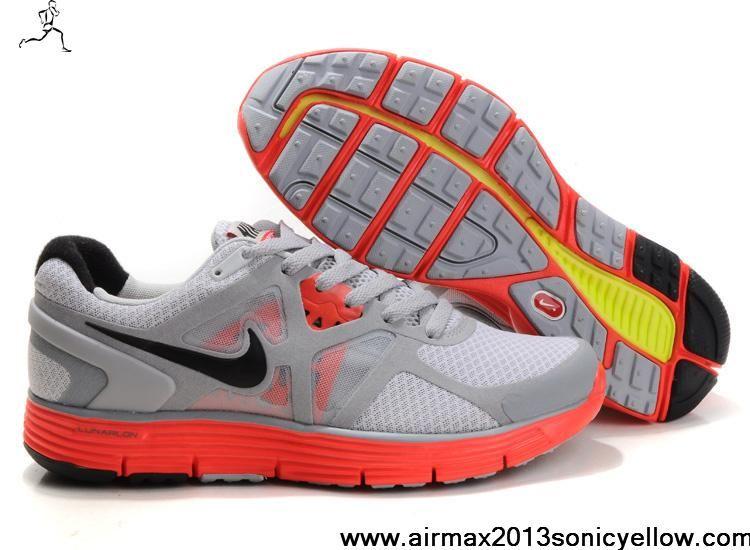 Sale Discount Mens Nike Lunarglide 3 454164-001 Pure Platinum Wolf Grey Max  Orange Black