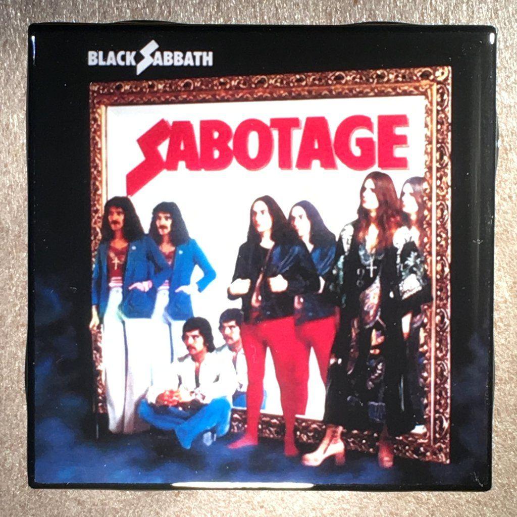 Black Sabbath Sabotage Coaster Record Cover Ceramic Tile Black Sabbath Album Covers Black Sabbath Albums Black Sabbath