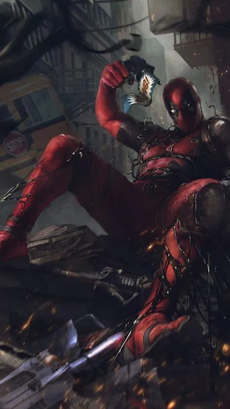 Deadpool vs Venom iPhone Wallpaper Free Free PIK PSD