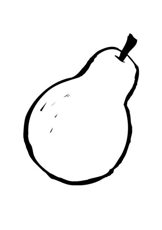 Coloring Page Pear Coloring Picture Pear Free Coloring Sheets