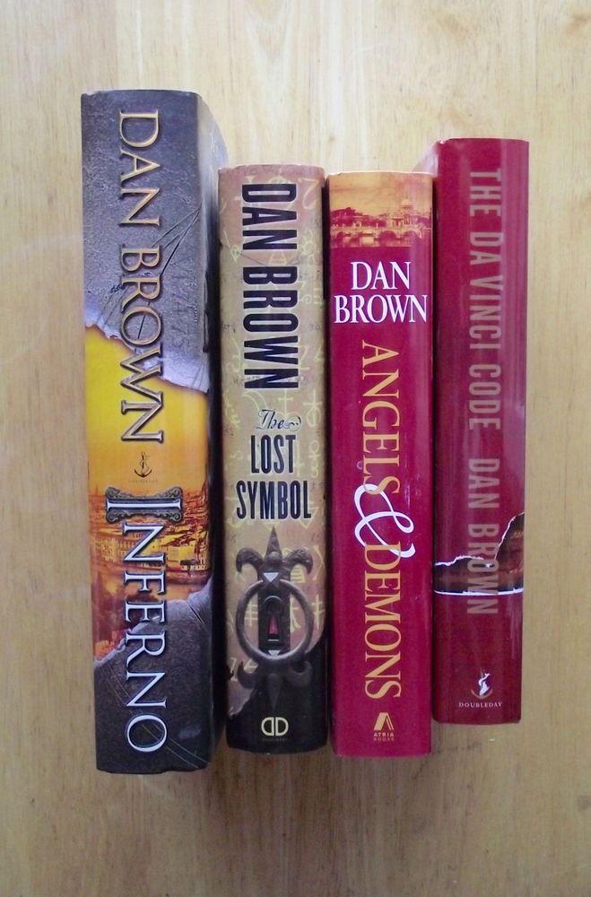 Dan Brown Book Lot The Da Vinci Code Angels Demons The Lost