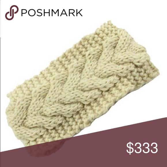 CREAM WINTER HEADBAND   BUY ANY 5 GET 50% OFF Cream Accessories Hats